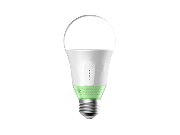 TP-Link LB110 Smart LED Wi-Fi Light Bulb, Dimmable White, E27, 10 W (Works with Alexa, B22 Bayonet Adapter Included, No Hub Required)