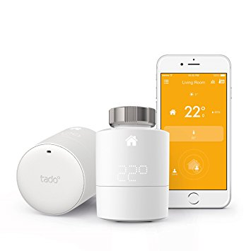 tado° Smart Radiator Thermostat Starter Kit - horizontal mounting