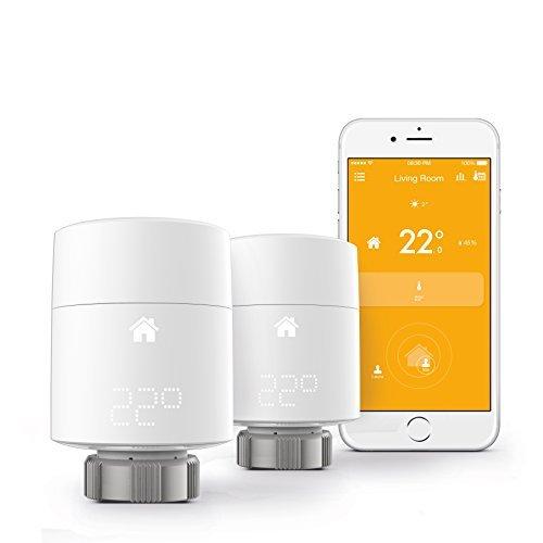 tado smart radiator thermostat starter kit vertical mounting intelligent heating control. Black Bedroom Furniture Sets. Home Design Ideas