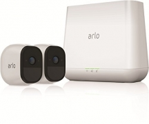 Arlo Pro Security System with Siren 2 Rechargeable Wire-Free HD Cameras with Audio